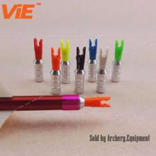 ViE Mutilcolor Aluminum Pins + Plastic Nocks Arrow Nocks Plastic Nocks L size for 6.2mm Shaft