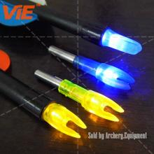 ViE Mutil-Color Plastic Screw in Luminous LED Lighted Hunting Arrow Nocks Fit Diameter 6mm Shaft