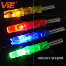ViE Mutil-Color Plastic Screw in Luminous LED Lighted Hunting Arrow Nocks Fit Diameter 6.2mm Shaft
