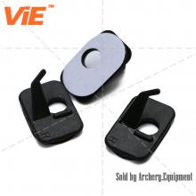 ViE Plastic Archery Arrow Rest for Recurve Bow 2 Hole Adhesive Flex Rest for Right Hand Color Black