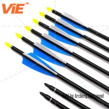 ViE 30 inch Aluminum Shaft Arrows with Turkey Feathers Material Vane -12 pack