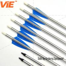 ViE 30 inch Aluminum Arrow Shaft with 4 inch TPU Material Vane -12 pack