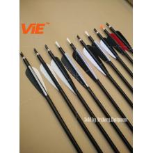 ViE 32 inch Spine 450 Aluminum Shaft Arrows with 4 inch Turkey Feathers Material Vane -12 pack