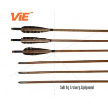 ViE 33-35 inch Shaft Arrows with 4 inch Turkey Feathers Material Vane -12 pack
