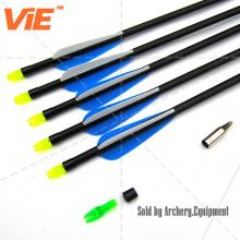 ViE 32 inch Spine 450 Fiberglass Shaft Arrows with 3 inches Plastic Material Vane -12 pack