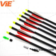 ViE 30 inch Spine 450 Fiberglass Shaft Arrows 3 inches Plastic Material Vane -12 pack