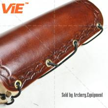 ViE 7 inch Brown Traditional Cow Leather Arm Protector Archery Arm Guard